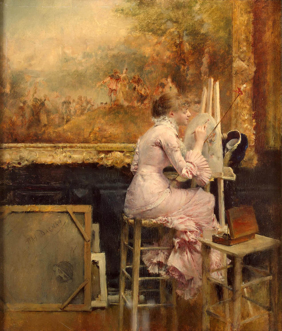 Young Watercolourist In The Louvre, 1891